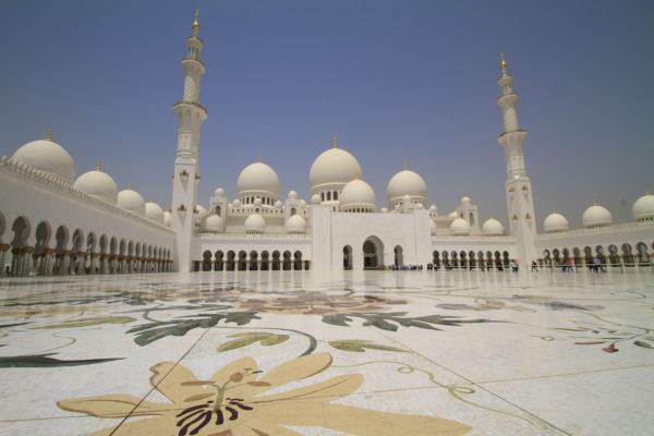 Mosaicos de Mármore na Mesquita de Abu Dhabi