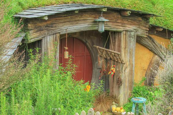 Casinha dos Hobbits em Hobbiton na Nova Zelândia