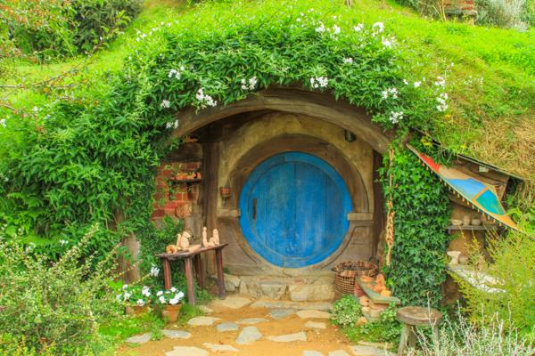 Casinha dos Hobbits na Nova Zelândia