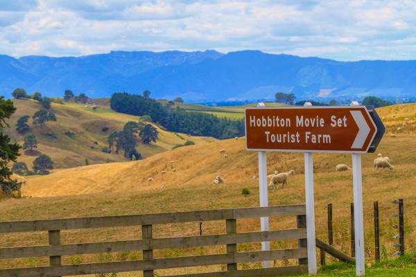 Hobbiton Movie Set em Matamata na Nova Zelândia