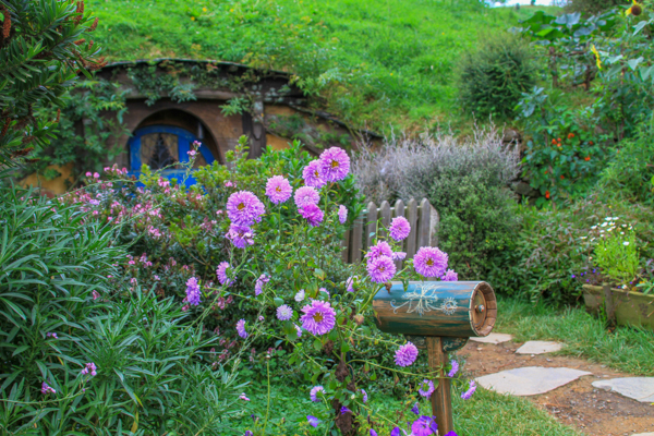 Jardim dos Hobbits em Hobbiton na Nova Zelândia