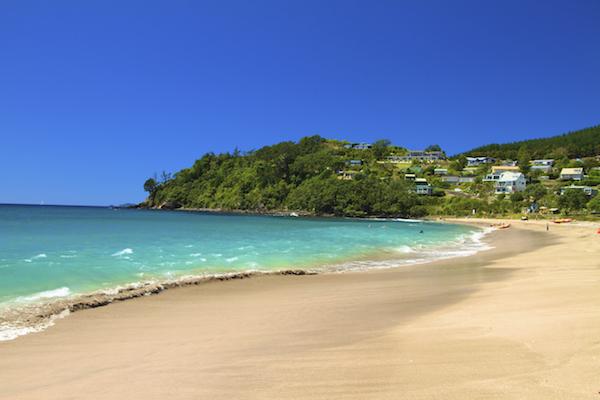 Hot Water Beach em Coromandel Península