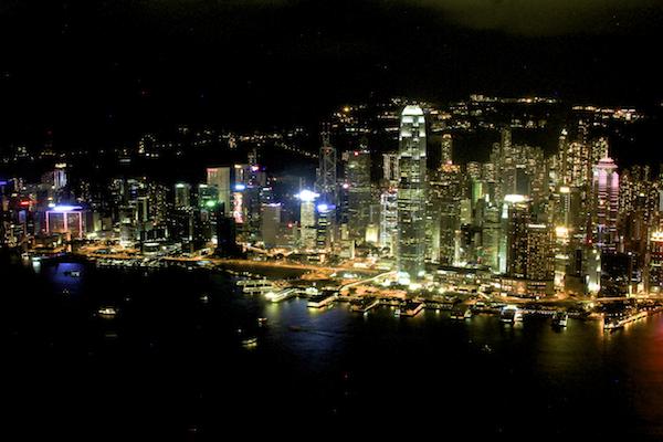 Hong Kong vista do alto Sky100 - Mirante no prédio mais alto de Hong Kong