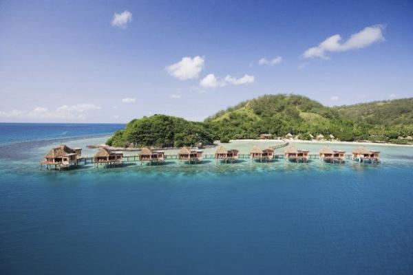 Bungalo em cima da agua em Fiji