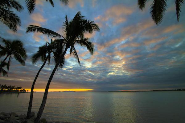 Anoitecer em Fiji
