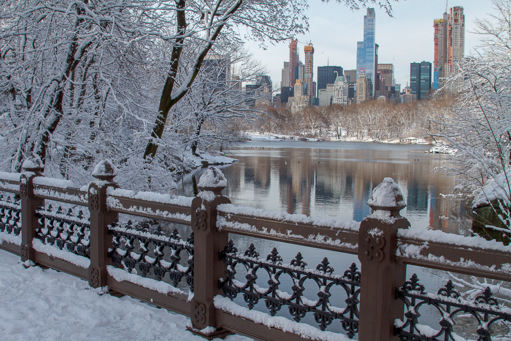 Neve no Central Park em Nova York