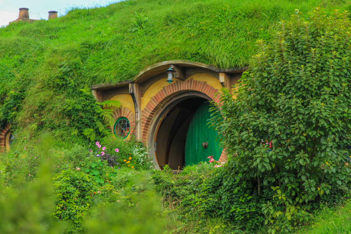 Porta de Bilbo Bolseiro em Hobbiton na Nova Zelândia