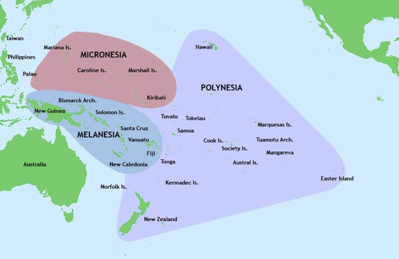 Onde fica a Polinésia?